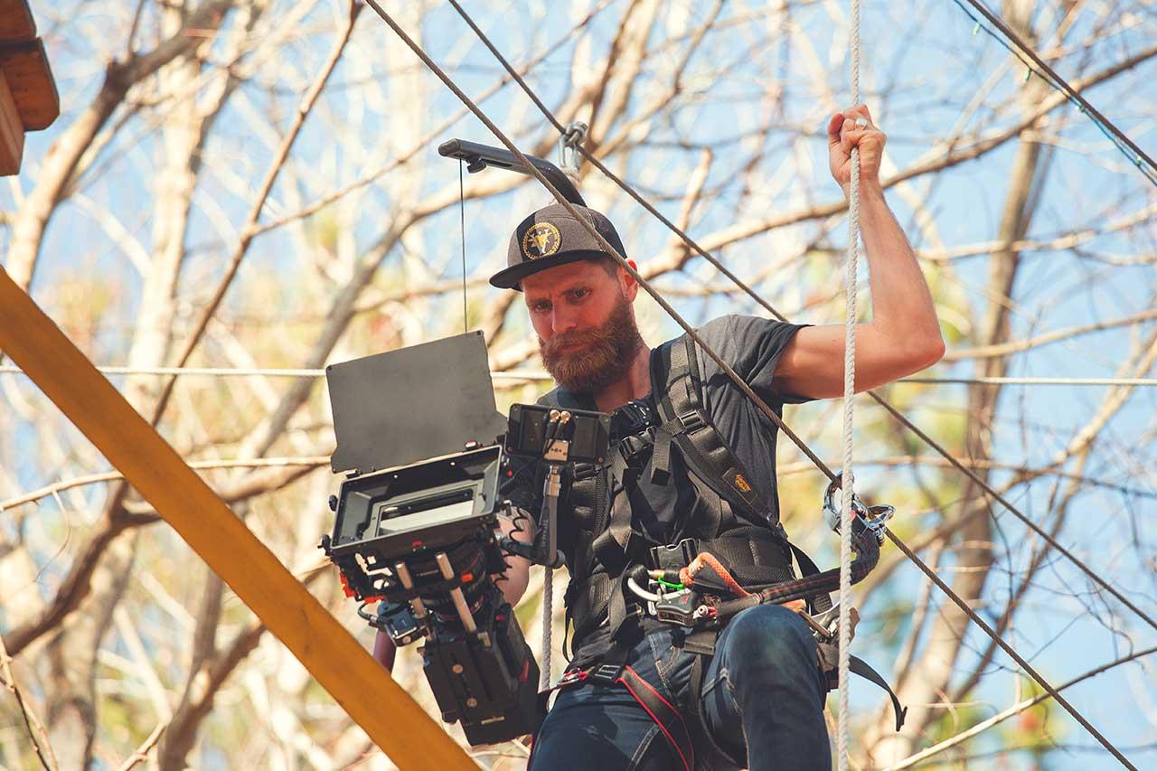 Matt suspended on a rig